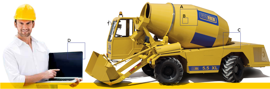 High tech concrete mixer truck