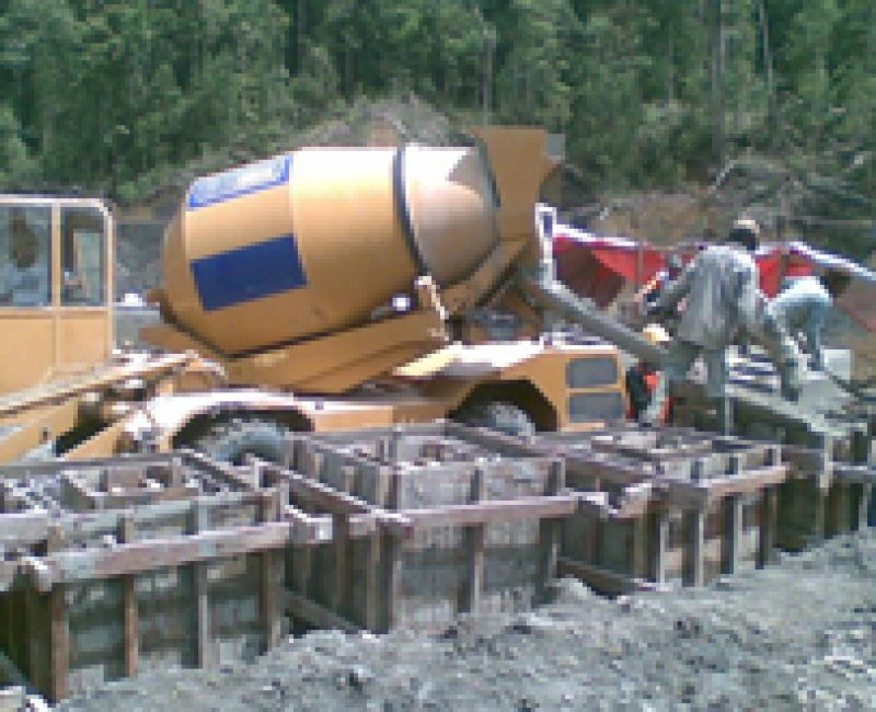 Baustelle in Indonesien