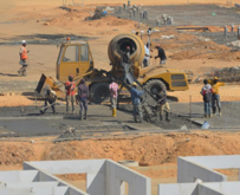 Worksite in Angola
